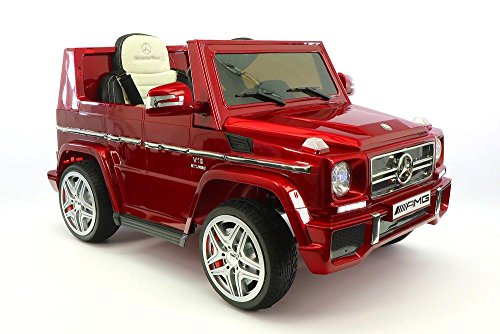 2018 Mercedes G65 AMG 12V Kids Ride-On Car with Parental Remote | Cherry Red