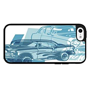 Classic Blue Muscle Cars Hard Snap on Phone Case (iPhone 5c)