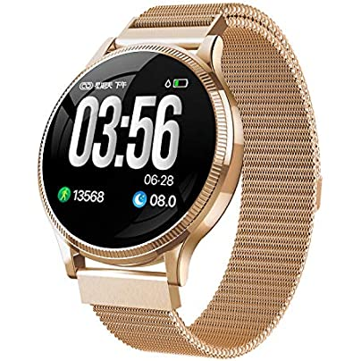 LJMR Smart Wristband Strap 2019 new MK08 color screen smart bracelet disc 1 22 screen heart rate blood pressure monitoring step sports bracelet Smart Wristband-gold Estimated Price -
