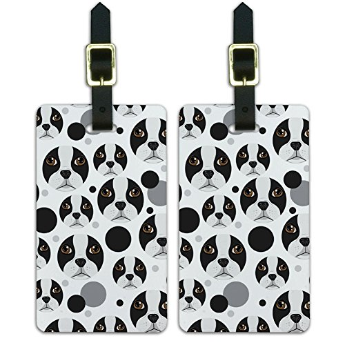 Graphics & More Luggage Suitcase Carry-on Id Tags-Dog Puppy-Boston Terrier Face, (Boston Terrier Face)