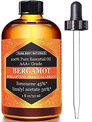 Bergamot Essential Oil - 100% Pure & Natural - Highest Quality Therapeutic Grade - 1 oz from Pure Body Naturals