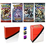 Totem World Premium Pokemon Booster Packs Collection – Includes 4 Booster Packs of
