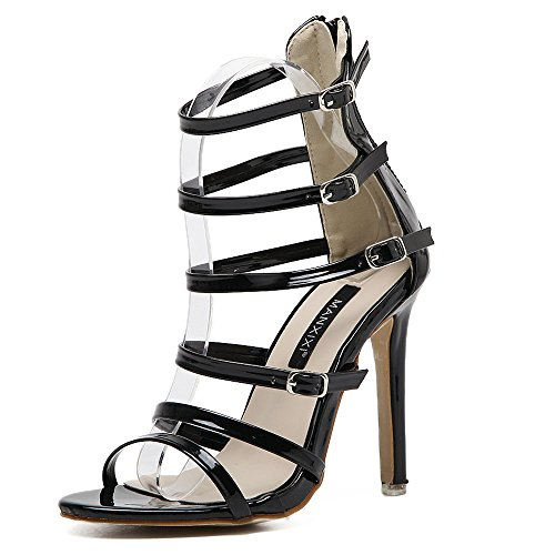 5 US High Party Womens Sandals Dress Cutouts Heels Stiletto S0qwPaOA8