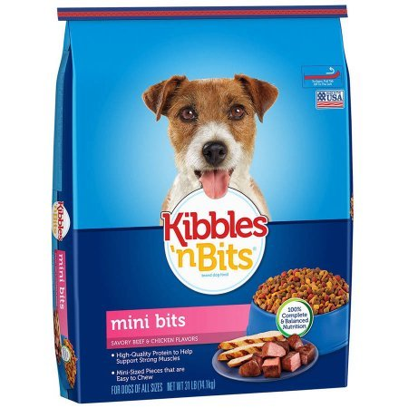 Kibbles 'n Bits Small Breed Mini Bits Savory Beef and Chicken Flavors Dog Food, 31-Pound (1 pack)