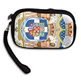 Royal Coat Of Arms Of Greece Deluxe Printing Small Purse Portable Receiving Bag