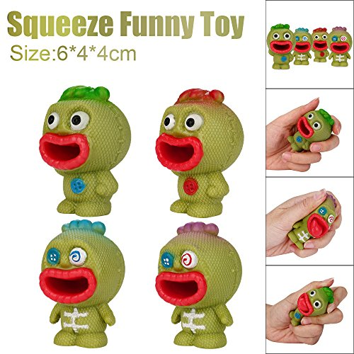 Stress Reliever Toys,6CM Funny Eyes Pop Out Stress Relief Toy Decor Decompression Popping Out Decor Squeeze Toys (B) - Eye Reliever