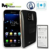 Mugen Power Samsung Galaxy S5 Double Juice Safety 5900mAh +Wireless Charging and NFC extended battery Color in Black phone cover