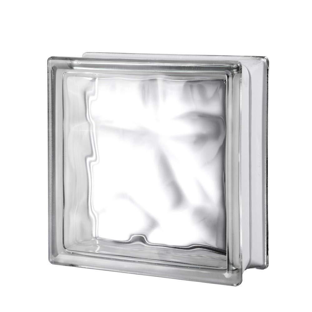 7 3/4'' x 7 3/4'' x 3 1/8'' Nubio Glass Block- 10PK by Generic