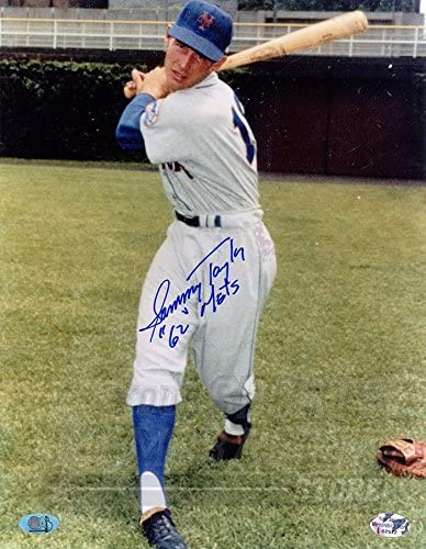 Sammy Taylor New York Mets Signed Autographed 1962 Mets 8x10