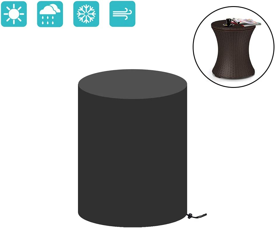 TheElves Patio Table Cover for 7.5-Gal Cool Bar Outdoor Pool Cooler Table, Waterproof &Heavy Duty with Drawstring