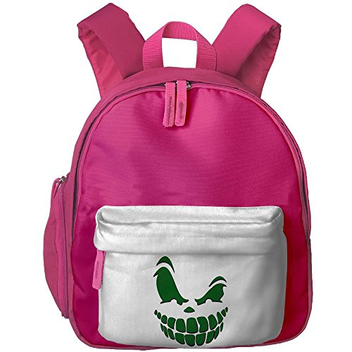 Mieba Scary Pumpkin Face Halloween Canvas School Backpack Cool Travel Backpack For (Scary Halloween Zipper Face)