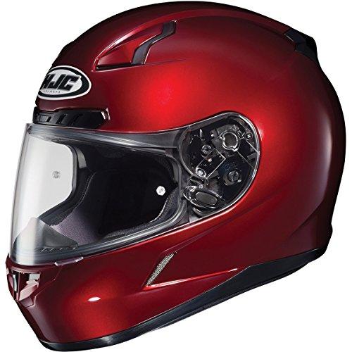 HJC Metallic Mens CL-17 Road Race Motorcycle Helmet - Wine/Large