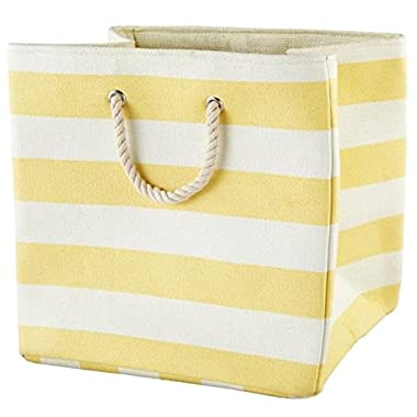 Large Storage Baskets and Bins - Store Toys, Laundry, Clothes for a Bedroom, Kids Room, Nursery, Home Office, Living or Family Room - Yellow