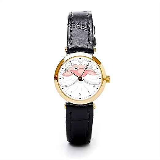 hiyane piel banda reloj feliz Navidad barba barato Relojes de pulsera.: Amazon.es: Relojes