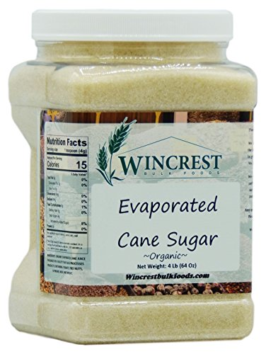 - Organic Evaporated Cane Juice Sugar - 4 Lb Tub