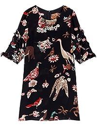 Rainstar Elegant Women's Plus Size Loose Fit A-Line Chiffon Dress Summer