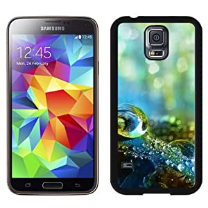 New Pupular And Unique Designed Case For Samsung Galaxy S5 I9600 With Dreamy Bokeh Dew Water Drop Macro Black Phone Case