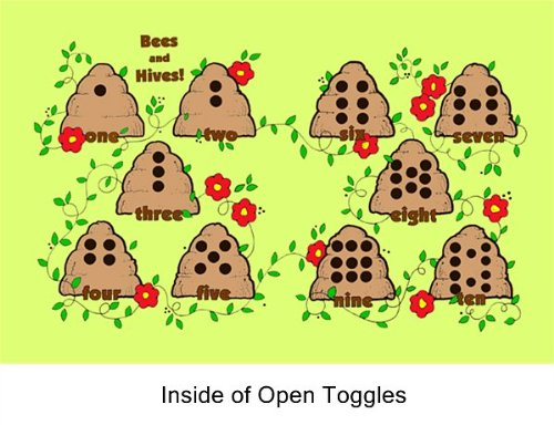 Bees & Hive Toggle Early Education Set -Felt Figures, Book, Lesson ...