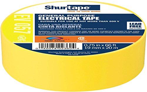 Shurtape EV 57 General Purpose Colored Vinyl Electrical Tape