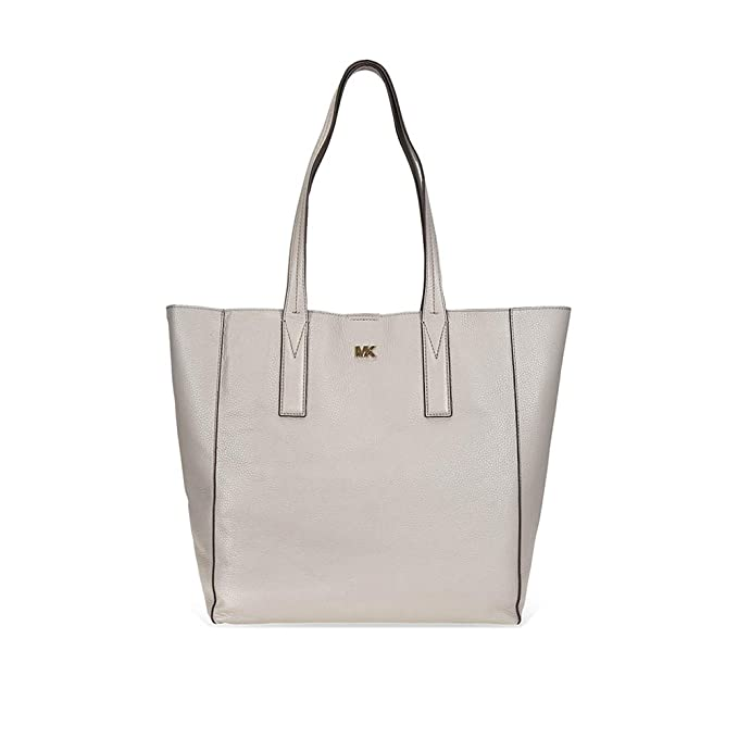 f91265e807dd Michael Kors Junie Large Pebbled Leather Tote- Pearl Grey: Amazon.in:  Clothing & Accessories