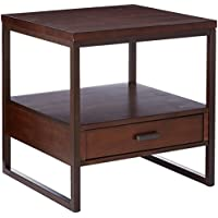 Coaster Home Furnishings 704307 End Table, NULL, Light Brown/Rustic Brown Metal