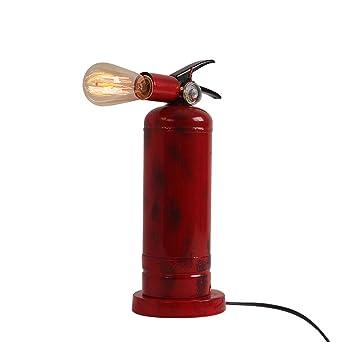 Lámpara de mesa industrial, cabeza giratoria creativa de hierro ...