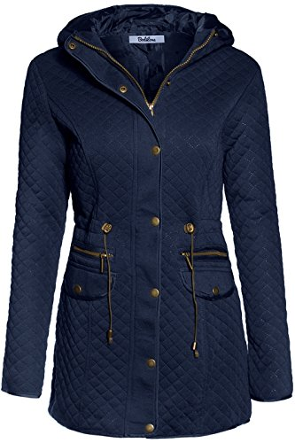 hooded quilted jacket - 8