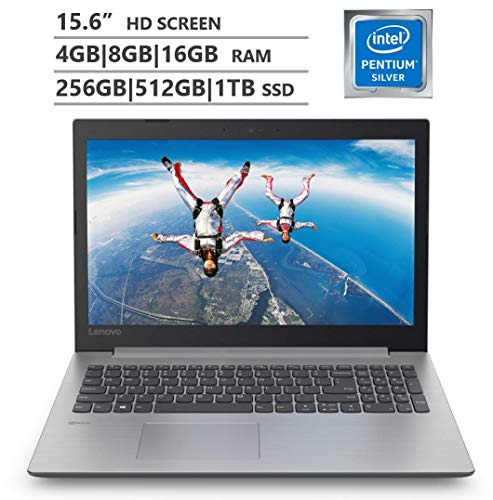 "Lenovo 2019 Newest IdeaPad 15.6"" Laptop Notebook Pentium N5000(Beat AMD A12 and i3-7100) 8G RAM, 512GSSD WiFi, DVDRW, HDMI, Windows 10"