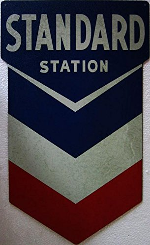 Standard Chevron Station Gas and Oil Metal Sign