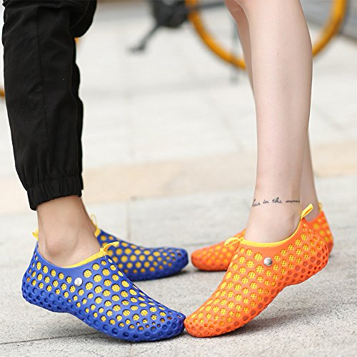 Beach Orange Couple Eastlion And Outdoor Drying Shoes Men Shoes slip Women Quick Hole Casual Breathable Sneakers Anti paqw61xUa