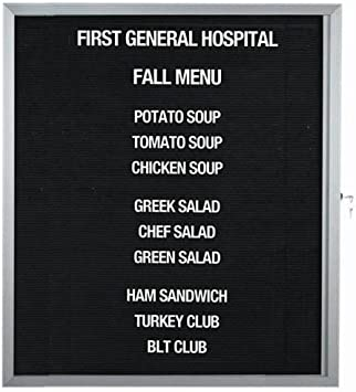 Amazon Com Enclosed Letter Board Size 36 H X 30 W Bulletin Boards Office Products