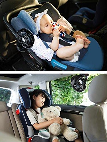 Glovion Battery-Operated Clip on Fan, Portable Personal Fan for Baby Stroller, Rechargeable Battery or USB Powered Fan, Power Bank Function, Mini Desk Table Fan by Glovion (Image #7)