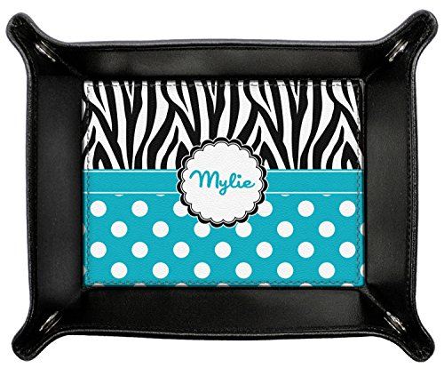 Dots & Zebra Genuine Leather Valet Tray (Personalized) by RNK Shops