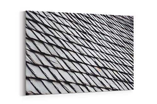Slate Shingle and Roof - Canvas Wall Art Gallery Wrapped 26