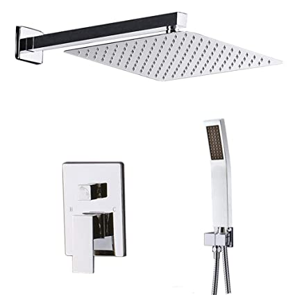 Starbath Shower System Chrome With 12 Inch Shower Head And Handheld