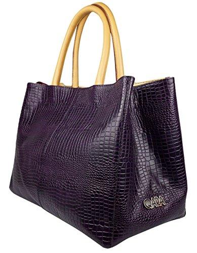 Bag Qara handle Blue Women's Aubergine Top qwzwtA8