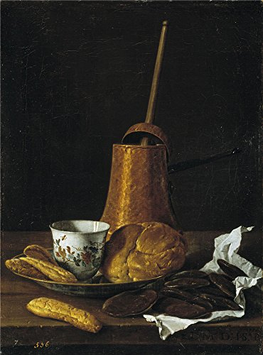 Oil painting 'Melendez Luis Egidio Still Life with a Chocolate Service 1770 ' printing on high quality polyster Canvas , 8 x 11 inch / 20 x 27 cm ,the best Foyer gallery art and Home artwork and Gifts is this Reproductions Art Decorative Canvas Prints