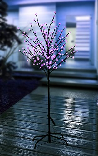 6 Foot Tall Lighted Cherry Blossom LED Tree 200 Pink LED bulbs. Wonderful Home Garden Neighborhood Decorating Wedding Birthday Christmas celebrations (Pink) (Decoraciones Halloween Jardin)