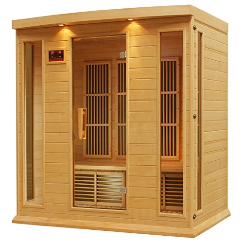 DYNAMIC SAUNAS AMZ-MX-K406-01 Maxxus Monteceillo 4-Person Far Infrared Sauna