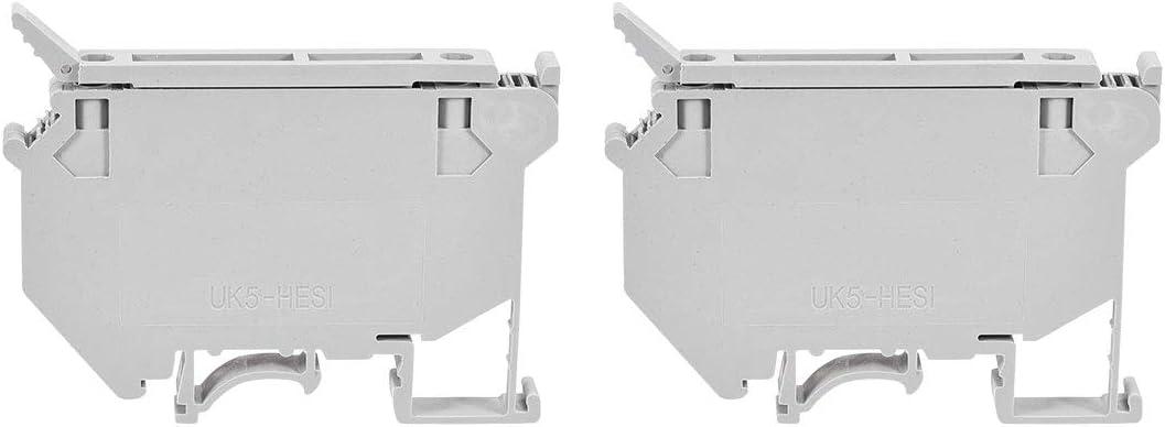 color gris Bloque de terminales de riel DIN UK5-HESI//UK5RD 800 V, 6,3 A, 2 unidades Sourcingmap