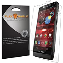 Motorola Droid RAZR M Screen Protector & Back Cover [5-Pack][XT907], Flex Shield - Ultra Clear Japanese PET Film w/ Lifetime Warranty - Bubble-Free HD Clarity w/ Anti-Fingerprint & Scratch Resistance