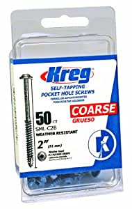 Kreg SML-C2B-50 Blue-Kote WR Pocket Screws - 2-Inch, 50 pack