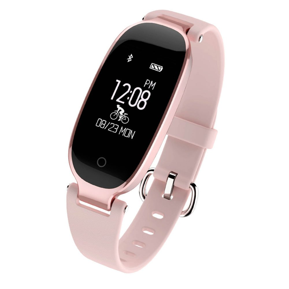 Auntwhale IP67 Waterproof Smart Band Android,IOS,Information Push, Heart Rate Monitoring, Pedometer, Sleep Monitoring - Rose Gold