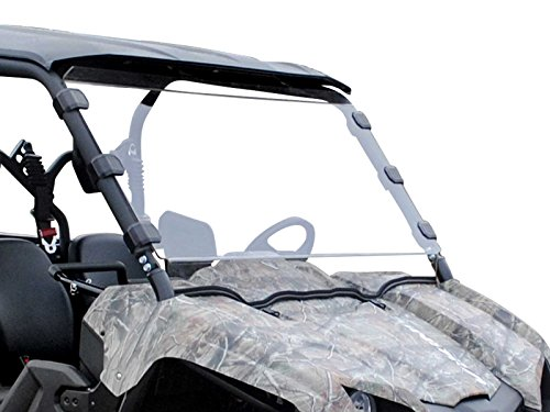 Scratch Resistant Full Windshield for Yamaha Viking/Viking VI (2014+) - Hard Coated for Extreme Durability and Long Life - Easy to Install! ()