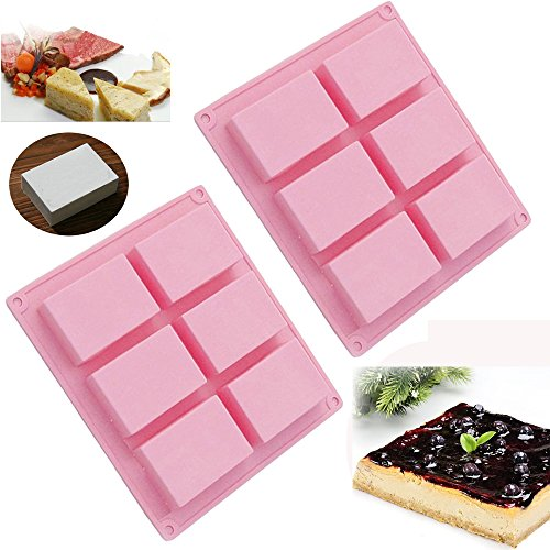 6-Cavity Rectangle Soap Silicone Mould Tray - 8