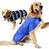 Cheap 【Newest Version】 Dog Jackets Waterproof Windproof Reversible Plaid Dog Vest Winter Coat Warm Dog Apparel Cold Weather Dog Jacket Small Medium Large Dogs Furry Collar (L-XL) (L, Blue)