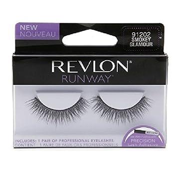 19bf93a6fc7 REVLON RUNWAY DOUBLE LAYER FALSE EYELASHES SMOKEY GLAMOUR WISPY LASHES:  Amazon.co.uk: Beauty