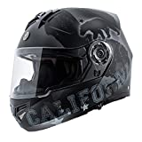 TORC Unisex-Adult Full-face Style TB27 Modular Helmet with Integrated Blinc Bluetooth (Republic) (Flat Black, Medium)