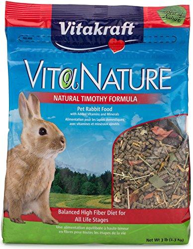 Vitakraft VitaNature Pet Rabbit Food - Natural Timothy Formula, 3 (Herbs Rabbit Food)