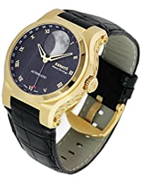 45mm Master Horologe Moonphase Swiss Made Martin Braun Movement Automatic Alligator Strap Watch